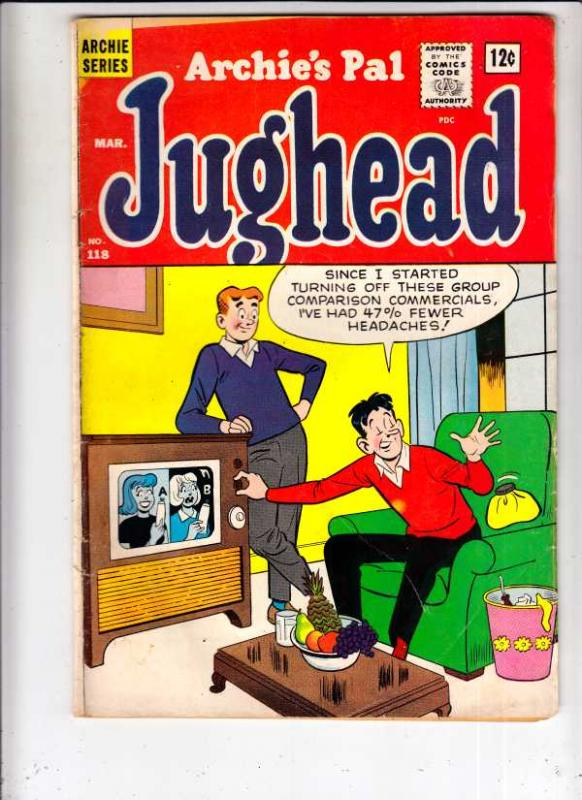 Jughead, Archie's Pal #118 (Mar-65) VG/FN+ Mid-Grade Archie, Betty, Veronica,...