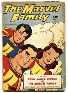 MARVEL FAMILY #13 1947-CAPTAIN MARVEL-FAWCETT-MARY MARVEL-G