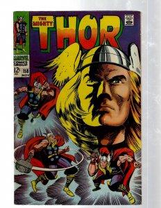 Mighty Thor # 158 VF Marvel Comic Book Loki Odin Asgard Sif Avengers Hulk RB8