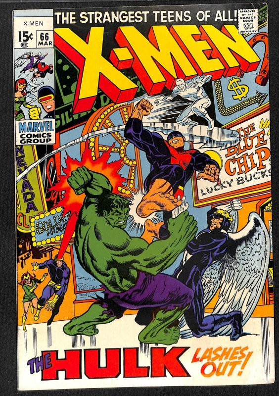 X-Men #66 FN/VF 7.0 Hulk!
