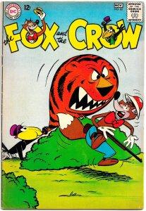 FOX AND THE CROW #82 (Oct 1963) 5.5 FN-  36 Pages of Davis and Bradbury Hijinx!