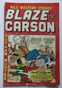 Blaze Carson #5 (Jun 1949, Timely) Good 2.0
