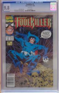 FOOLKILLER #1, CGC = 9.8, NM/M, Steve Gerber, 1990, more Marvel & CGC in store
