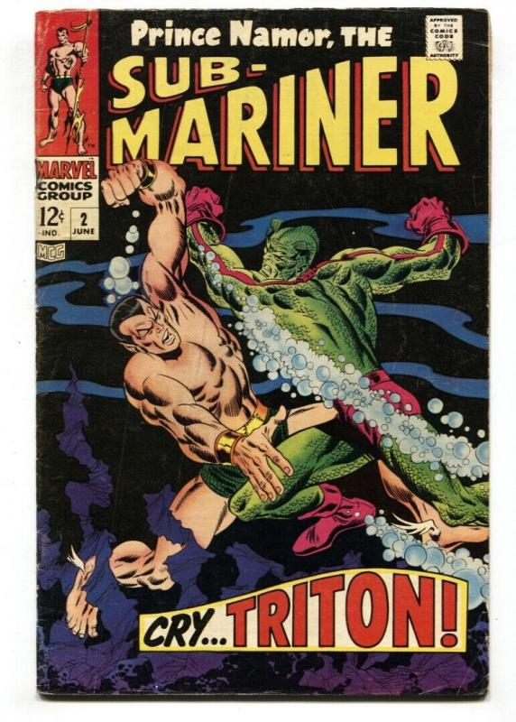 Sub-mariner #2 1968-marvel Comic Silver-Age VG/FN
