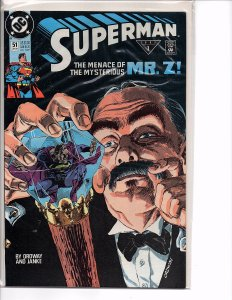 DC Comics Superman #51 1st App. Mr. Z Jerry Ordway Story and Art