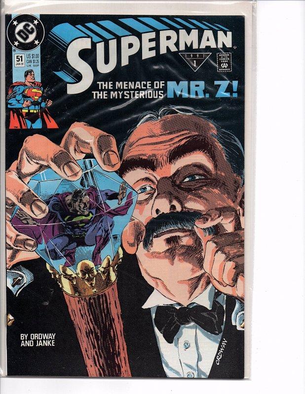 DC Comics Superman #51 1st App. Mr. Z Jerry Ordway Story and Art