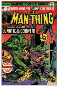 MAN THING (1974) 21 G-VG Sept. 1975