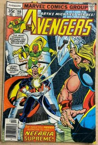 AVENGERS #166 (Marvel, 12/1977) VERY GOOD (VG) Count Nefaria! Shooter/Byrne!