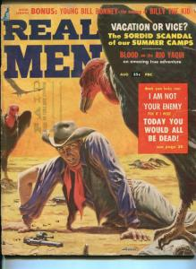 Real Man 8/1958-Billy The Kid-pulp fiction-cheesecake-GOOD+