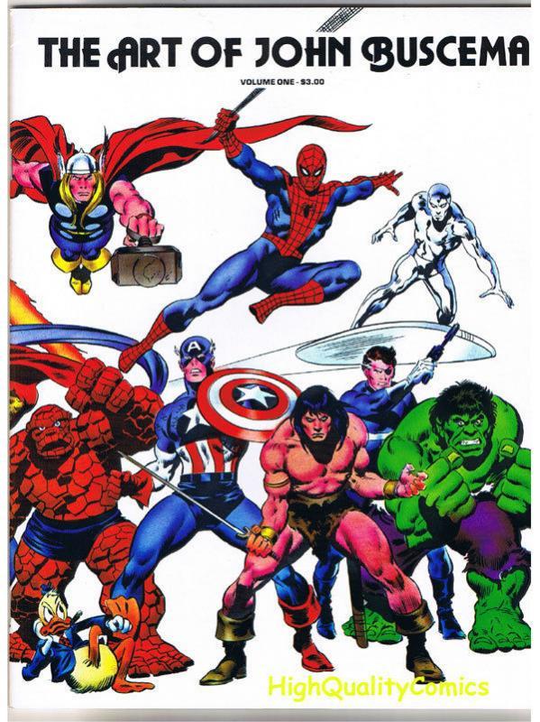 ART of JOHN BUSCEMA, TPB, GN, Gene Conan, NM,  Thor, Hulk,1978, Captain America