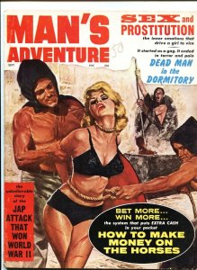 MAN'S ADVENTURE-SEPT 1962- WEIRD MENACE BOUND BLONDE-CHEESECAKE-WAR--FINE