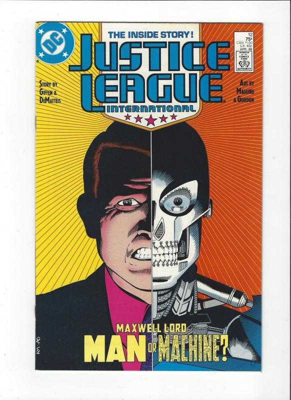 Justice League International #12 1987 DC Comics Copper Age  NM