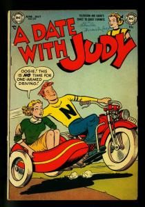 Date with Judy #29 1952- motorcycle cover- DC  Humor- VG