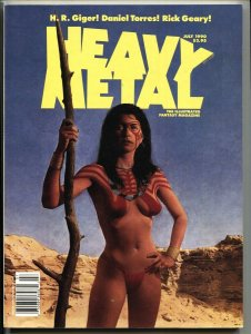HEAVY METAL July 1990-DONALD TRUMP The Wall issue-VF