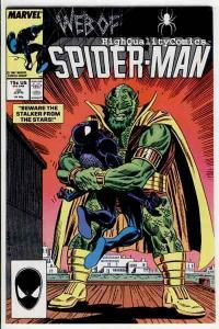WEB of SPIDER-MAN #25, NM, Stalker , Alien, Webbing, 1985, more in store