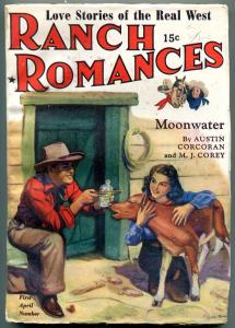 Ranch Romances Pulp April 1 1942- Moonwater- FN