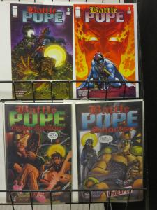 Battle Pope Lot of 4Diff #2, 3 Christmas and Shorts by Robert Kirkman Demons v t