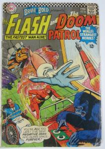 BRAVE AND THE BOLD #65 (DC) May, 1966 FAIR Flash/Doom Patrol