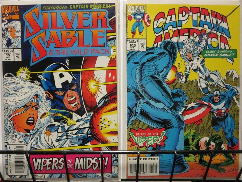 SILVER SABLE CAPTAIN AMERICA VS VIPER  parts1-2 xover COMICS BOOK