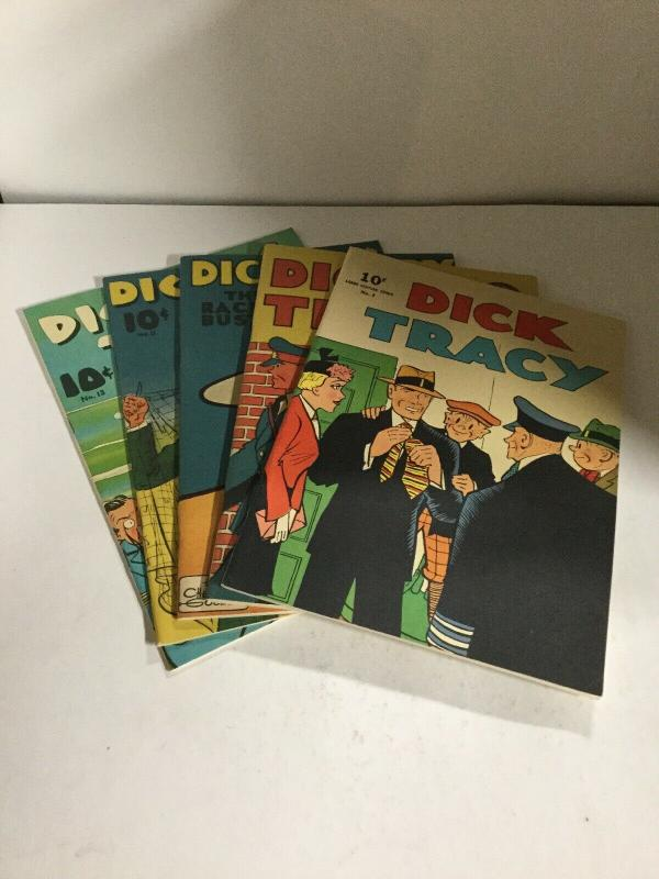 Dick Tracy Chicago Tribune Reprints 3 4 8 11 13 Oversized B16