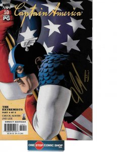 Captain America #10 signed by John Cassaday COA INCLUDED NM
