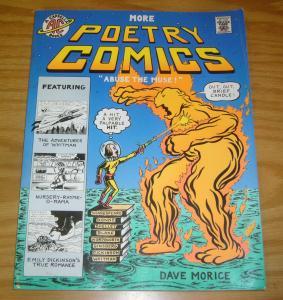 More Poetry Comics SC VF dave morice - a cappella books - graphic novel