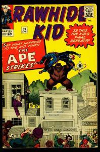 Rawhide Kid #39 1964- Marvel Western- Jack Kirby- VG/FN