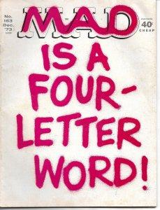 Mad No. 163,  Dec, 1973 (FN)