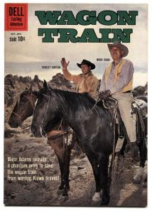 Wagon Train #7 1960- Dell TV Western- Robert Horton VF+