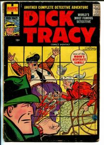 Dick Tracy  #125 1958-Harvey-crime scene cover-Chester Gould-G