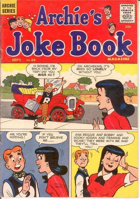 ARCHIES JOKE BOOK (1954-1982)24 VG-F  Sept. 1956 COMICS BOOK