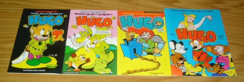 Hugo #1-3 VF complete series + one-shot - milton knight's fairy tales for adults
