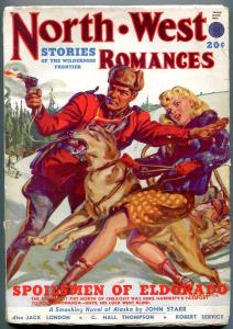 North West Romances Pulp Fall 1949- John Starr- Jack London G/VG