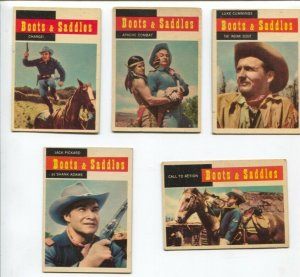 Boots & Saddles Western TV Series Trading Card Set 1958-John Pickard-Michael ...