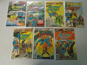 Action Comics lot 14 different from #457-470 avg 6.0 FN (1976-77)