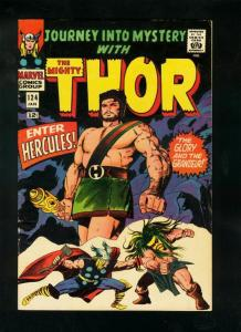 JOURNEY INTO MYSTERY #124 1966-THOR-HERCULES COVER-KIRBY ART-silver age-FN+