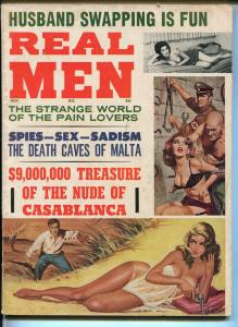 Real Man 11/1964-Nazis torture bound babe-Tarzan-Bill Ward art-VG