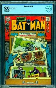 Batman #218 CBCS VF/NM 9.0 Off White to White