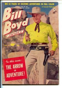 Bill Boyd Western #13 1951-Fawcett-Photo cover-52 page issue--Black Market B...