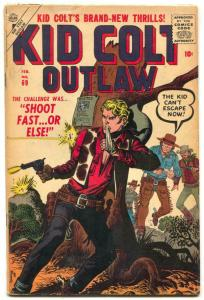 Kid Colt Outlaw #69 1957- Maneely cover- Atlas Western VG