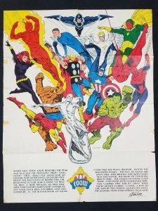 Jim Steranko-Marvel-FOOM Poster-1973-Thor-Hulk-1973-top Marvel heroes-VG