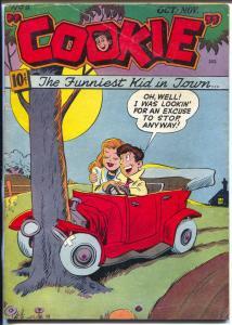 Cookie #9 1947-ACG-jalopy crash cover-slapstick teen humor-VG+
