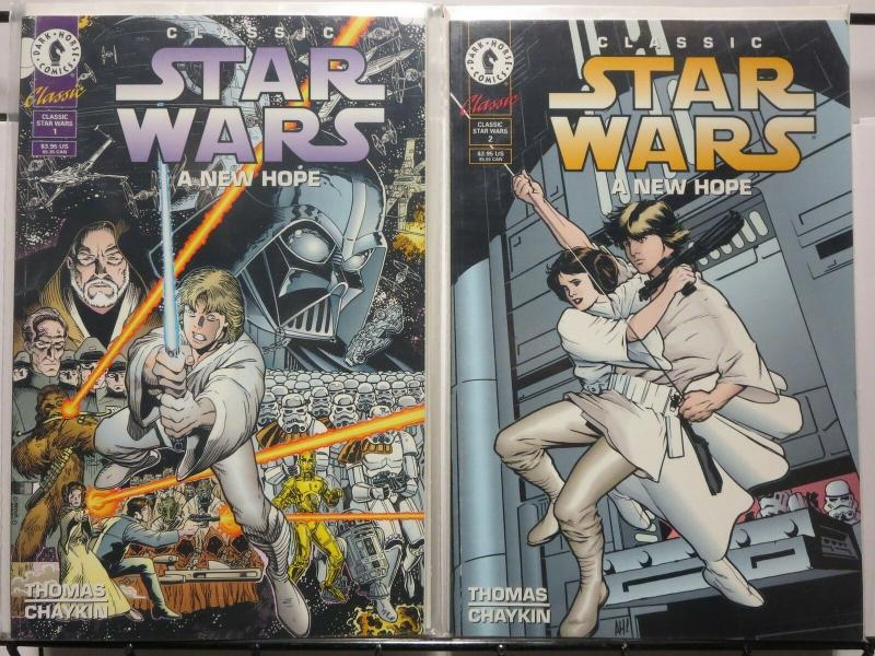 CLASSIC STAR WARS A NEW HOPE  1-2  AL WILLIAMSON COMICS BOOK