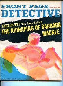 FRONT PAGE DETECTIVE  4/1959-DELL-BARBARA MACKLE KIDNAP-PULP THRILLS-MURDER-vg