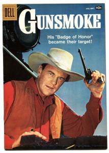 GUNSMOKE #10 1958-DELL COMICS-JAMES ARNESS TV PHOTO COVR VF