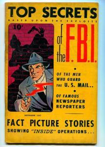 TOP SECRETS #1 1947- STREET AND SMITH-BOB POWELL-VG-