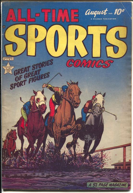 All-Time Sports #6 1949-Hillman-horse racing-Cinn. Reds-Soap Box Derby-VG/FN