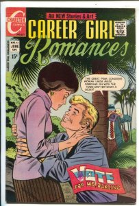 Career Girl Romances #63 1972-Charlton-political issue-High grade-FN