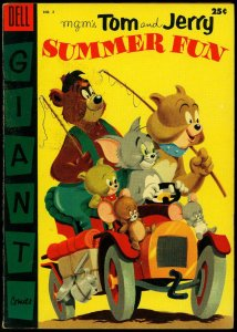 Tom & Jerry's Summer Fun #2 1955- Dell Giant- MGM FN