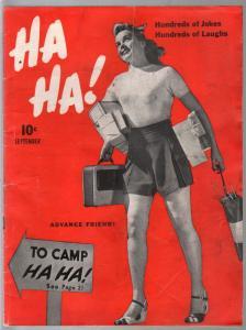 Ha Ha! #4 9/1942-pin-up girl cover-Boltinoff-Machamer-spicy cartoons-VG+